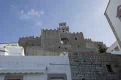 Monastery of St John in Patmos Stock Image