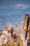Monastery of St. Nicholas Anapausas Meteora, Greece stock photo