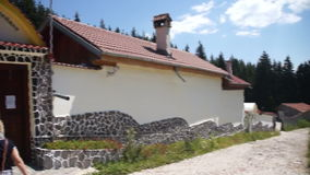 The monastery St. Panteleimon in the Rhodopes stock footage