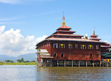Monastery standing on stilts on the water Royalty Free Stock Photography