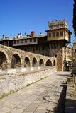 Monastery Stavronikita. A photo of Monastery Stavronikita, Mount Athos, Greece royalty free stock images