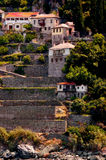 The Monastery of Stavronikita on Mount Athos Royalty Free Stock Photography