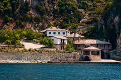 Monastery of Stavronikita on Mount Athos Stock Image