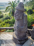 Monastery stone idol at Sanbanggulsa buddhist temple at Sanbangs Stock Photo