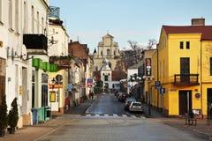 Monastery street in Swiecie. Poland Royalty Free Stock Photos