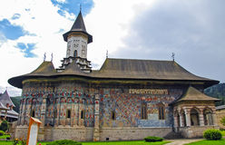 The Monastery Sucevita. Moldavian Region Stock Images