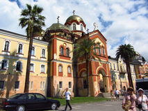 Monastery. The monastery in the summer in new Athos, Abkhazia Stock Images
