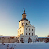 Monastery in sunset light Royalty Free Stock Images