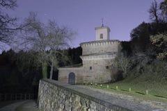 Monastery of Suso, in San Millan de la Cogolla, La Rioja, Spain. Night at the Monastery of Suso, in San Millan de la Cogolla, La Rioja, Spain. UNESCO World stock images