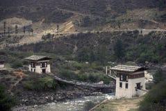 Monastery, Tamchhog Lhakhang, Bhutan Stock Images