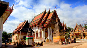 Monastery. Temples where the monks lived. The venerable shrine of Buddhists in Thailand and Asia Royalty Free Stock Image