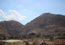 Mount, Monastery of Temptation royalty free stock image