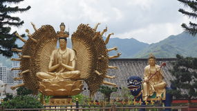 Monastery of a thousand Buddhas. Hong Kong Royalty Free Stock Photos