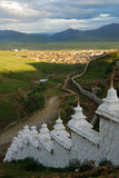 Monastery in  Tibet. Monastry of Letong,in  Kang  area Royalty Free Stock Photo