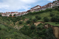 Monastery in  Tibet Stock Photo
