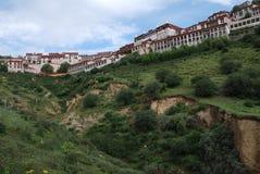 Monastery in  Tibet. Gaden,or Gandain  Monastery   in  Chushur, Tibet Stock Photo