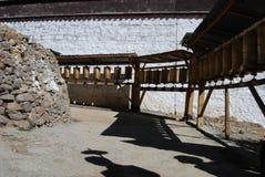 Monastery in  Tibet. Worship  way around Tashilunpul   Monastery  in  Shigatse, Tibet Royalty Free Stock Photo