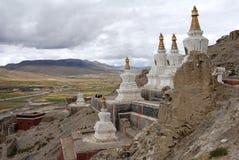 Monastery in  Tibet. Pagodas of Sakya monastery in  Shigatse, Tibet. Sakya monastery is a  very  old monastery with over 1000 years history Royalty Free Stock Photography