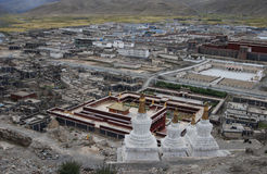 Monastery in  Tibet. A  view  of Sakya monastery in  Shigatse, Tibet. Sakya monastery is a  very  old monastery with over 1000 years history Stock Photography