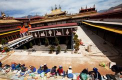 Monastery in Tibet stock images