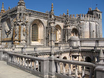 Monastery in Tomar. The Convent of the Order of Christ is a religious building and Roman Catholic building in Tomar, Portugal Royalty Free Stock Photography