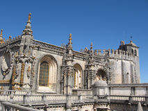 Monastery in Tomar. The Convent of the Order of Christ is a religious building and Roman Catholic building in Tomar, Portugal Stock Photography