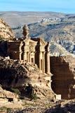 Monastery tomb Petra. Petra - Nabataeans capital city (Al Khazneh) , Jordan. Monastery tomb extreme telephoto lens detail - shot with extender. Roman Empire Stock Image