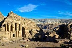 Monastery tomb Petra Stock Image