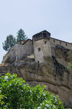 Monastery on top of a cliff in Meteora, Greece Stock Photo