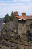 Monastery on top of a cliff in Meteora, Greece Stock Photography