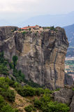 Monastery on top of a cliff in Meteora, Greece Stock Images