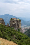 Monastery on top of a cliff in Meteora, Greece Royalty Free Stock Photo