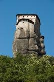 Monastery on top rock Meteora Stock Image