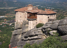 Monastery On Top Rock Meteora Royalty Free Stock Photos