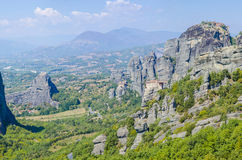 Monastery on top of a rock in Meteora, Greece Royalty Free Stock Photos