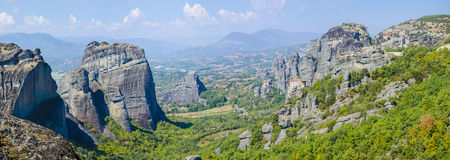 Monastery on top of rock in Meteora, Greece Stock Photography