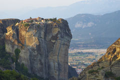 Monastery on top of rock pillar Stock Image