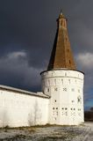 Monastery tower 1. View at the tower of St. Joseph monastery near Moscow, Russia. The cloister was founded in XV century Royalty Free Stock Photos
