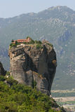 Monastery tower on top of a rock Meteora Royalty Free Stock Images