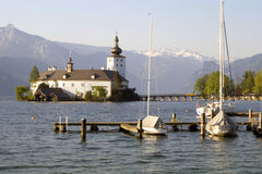 Monastery on the traunsee - austria Royalty Free Stock Photo