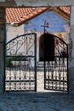 The monastery of Treskavec. The metal gate of the monastery of Treskavec, Macedonia Stock Images