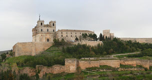 The monastery of ucles. Stitched Panorama of the monastery of ucles Stock Photography
