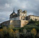 Monastery at Ucles, Castilla la Mancha, Spain Stock Photo