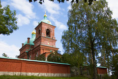 Monastery on Valaam island, Karelia. Orthodoxy. Religion, The Monks. The monastic life. Historic sites, churches. Tourism and travel. Christianity in Russia Royalty Free Stock Photos