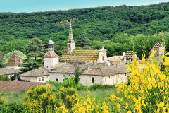 Monastery of Valbonne  in Gard Provencal, France Stock Photos