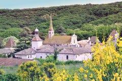 Monastery of Valbonne  in Gard Provencal, France Royalty Free Stock Photos