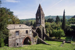 Monastery of Valle Christi. Ruins of an old abbey suspended in time Royalty Free Stock Images
