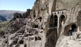 Monastery Vardzia - view from the bell tower Stock Photography