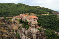Monastery Varlaam, Greece Royalty Free Stock Images