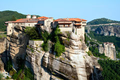 Monastery Varlaam, Meteora, Greece. Orthodox Monastery Varlaam on the rock, near Kalampaka, Meteora,  Fessalia, Greece Stock Image